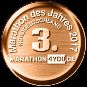zum Bild: Der Remmers-Hasetal-Marathon des VfL Löningen erhielt die Bronze-Medaille bei der Wahl zum Marathon des Jahres in Norddeutschland.