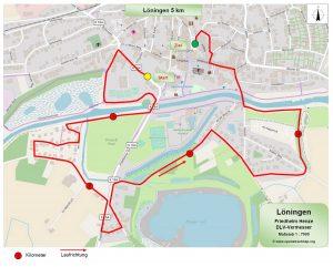 zum Bild: Die erstmals offiziell vermessene 5-km-Strecke beim Remmers-Hasetal-Marathon des VfL Löningen.