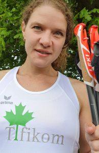 zum Bild: Anika Schulte aus Garrel freut sich auf die Teilnahme bei #wirlaufenweiter - Remmers-Hasetal-Marathon. Foto: Schulte.