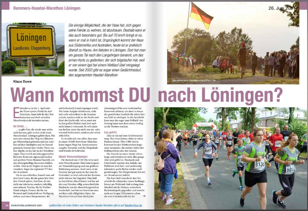 zum Bild: MARATHON JAHRBUCH 2021 von Marathon4you/Trailrunning.de.