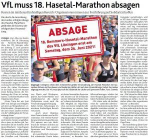 zum Bild: Bericht der Münsterländischen Tageszeitung vom 20.04.2020.