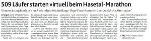 zum Bild: Bericht der Münsterländischen Tageszeitung vom 30.06.2020.