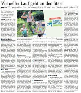 zum Bild: Bericht der Nordwest-Zeitung vom 22.05.2020.