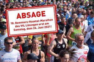 zum Bild: Der Remmers-Hasetal-Marathon des VfL Löningen 2020 ist abgesagt. Foto: Matthias Garwels/Remmers-Hasetal-Marathon.
