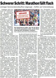 zum Bild: Bericht im Sonntagsblatt für den Landkreis Cloppenburg vom 02./03.05.2020.