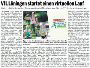 zum Bild: Bericht im Sonntagsblatt für den Landkreis Cloppenburg vom 06./07.06.2020.