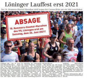 zum Bild: Bericht im Volltreffer - der Lokalzeitung vom 30.04.2020.