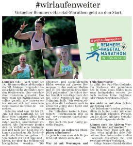 zum Bild: Bericht im Volltreffer - der Lokalzeitung vom 28.05.2020.
