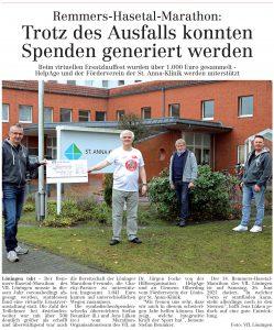 zum Bild: Bericht im Volltreffer - der Lokalzeitung vom 17.12.2020.