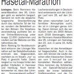 zum Bild:Bericht im Cloppenburger Wochenblatt vom 31.01.2018.