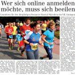 zum Bild:Bericht im Volltreffer - der Lokalzeitung vom 31.05.2018.