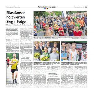 zum Bild: Bericht der Münsterländischen Tageszeitung vom 25.06.2018.