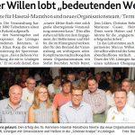 zum Bild:Bericht der Münsterländischen Tageszeitung vom 16.08.2018.