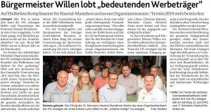 zum Bild: Bericht der Münsterländischen Tageszeitung vom 16.08.2018