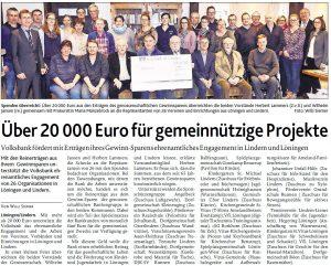 zum Bild: Bericht der Münsterländischen Tageszeitung vom 04.01.2019.