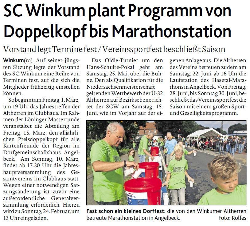 zum Bild: Bericht der Münsterländischen Tageszeitung vom 29.01.2019.