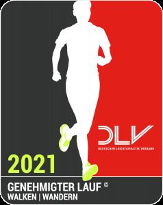 zum Bild:<br>Das Qualitätssiegel für walken und wandern durch den DLV 2021.