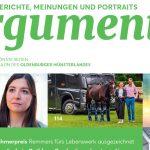 zum Bild:Bericht in ARGUMENTE 2020, dem Wirtschaftsmagazin des Oldenburger Münsterlandes.