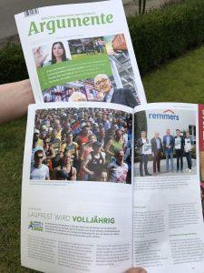 zum Bild: Das Wirtschaftsmagazin argumente 2020 berichtet ausführlich auch über den Remmers-Hasetal-Marathon des VfL Löningen.