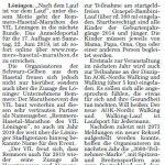 zum Bild:Bericht im Sonntagsblatt für den Landkreis Cloppenburg vom 06./07.10.2018.