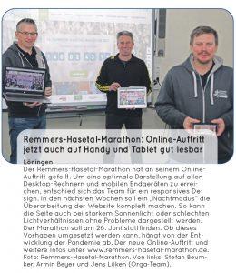 zum Bild: Bericht CLP News - Wochenzeitung für Cloppenburg und Umzu - vom 12./13.03.2021.