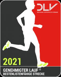 zum Bild:Das Qualitätssiegel für den DLV-genehmigten Lauf 2021.