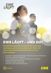 zum Bild: Anzeige der EWE in der Marathon-Broschüre 2019.