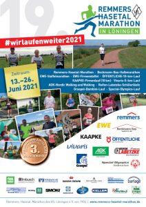 Flyer zu #wirlaufenweiter2021, als pdf-Dokument.