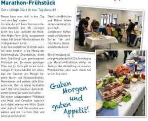 zum Bild:Marathon-Frühstück beim Remmers-Hasetal-Marathon des VfL Löningen.