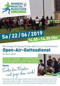 zum Bild: Titelblatt Flyer zum Marathon-Gottesdienst 2019.
