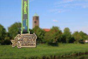 zum Bild:Die Finisher-Medaille 2018. Foto: Stefan Beumker.