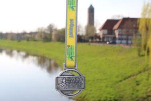 zum Bild: Die Finisher-Medaille beim Remmers-Hasetal-Marathon des VfL Löningen 2019.