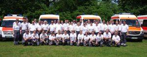 zum Bild: Das diesjährige DRK-Einsatzteam beim Remmers-Hasetal-Marathon des VfL Löningen. Foto: Paul Mastall.