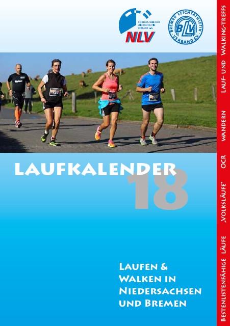 zum Bild: Titelseite Laufkalender NLV für Niedersachsen und Bremen 2018.