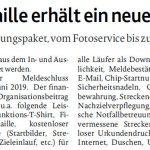 zum Bild:Bericht der Münsterländischen Tageszeitung vom 09.05.2019.