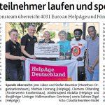 zum Bild:Bericht der Münsterländischen Tageszeitung vom 26.07.2019.