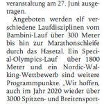 zum Bild:Bericht der Münsterländischen Tageszeitung vom 28.10.2019.
