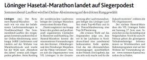 zum Bild: Bericht der Münsterländischen Tageszeitung vom 16.01.2020.