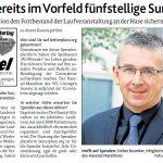 zum Bild:Bericht der Münsterländischen Tageszeitung vom 06.05.2020.