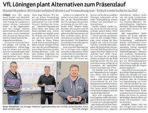 zum Bild: Bericht der Münsterländischen Tageszeitung vom 03.03.2021.