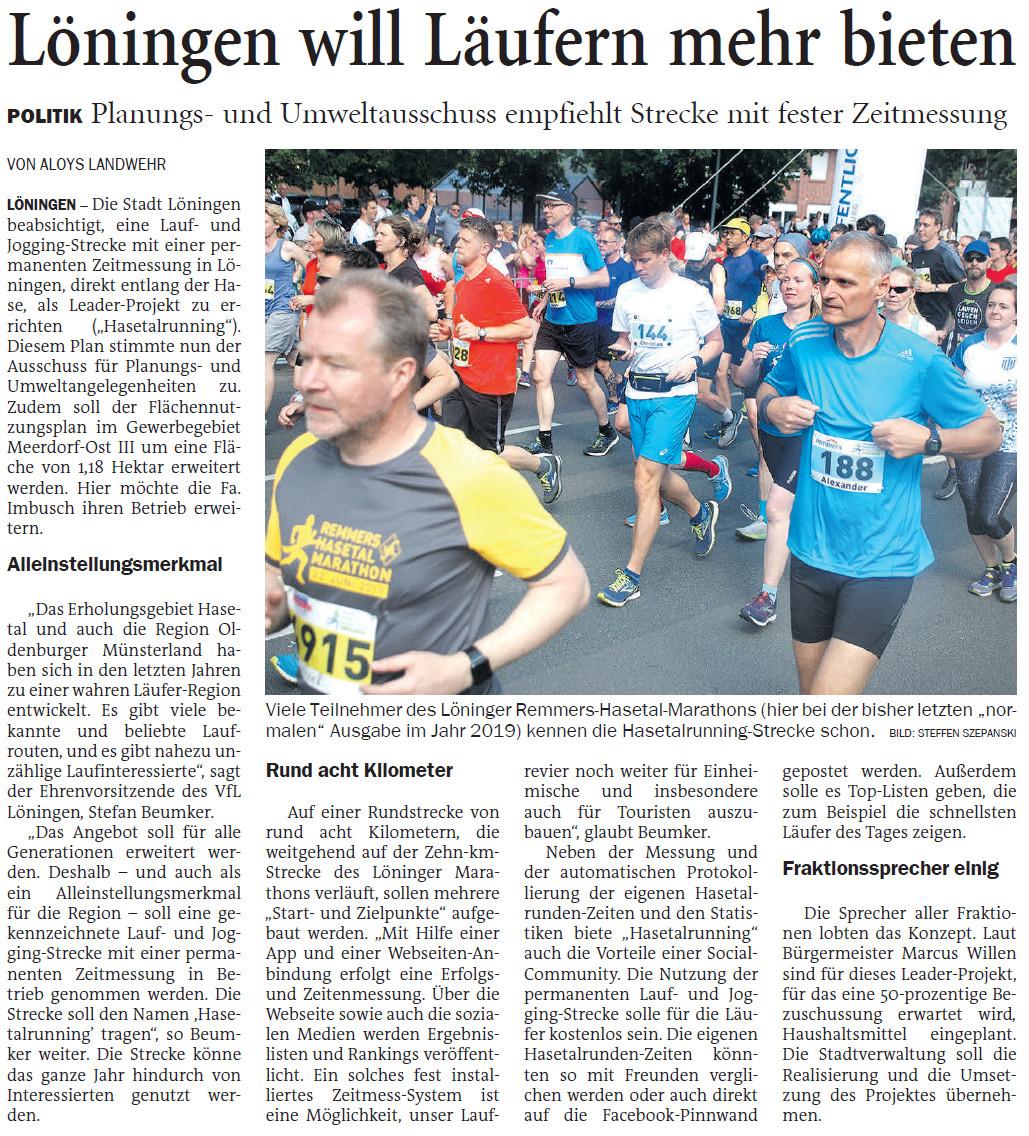 zum oberen Bild: Bericht der Nordwest-Zeitung vom 26.03.2021.