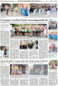 zum Bild: Bericht der Nordwest-Zeitung vom 24.06.2019, Seite 1.