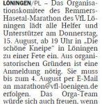 zum Bild:Bericht der Nordwest-Zeitung vom 23.07.2019.