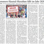 zum Bild:Bericht der Nordwest-Zeitung vom 21.04.2020.