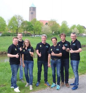 zum Bild: Das neu formierte Orga-Team vom Remmers-Hasetal-Marathon des VfL Löningen. Foto: VfL Löningen.