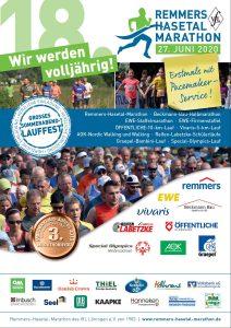 zum Bild: Plakat für den Remmers-Hasetal-Marathon des VfL Löningen 2020, am Samstag, dem 27.06.2020.