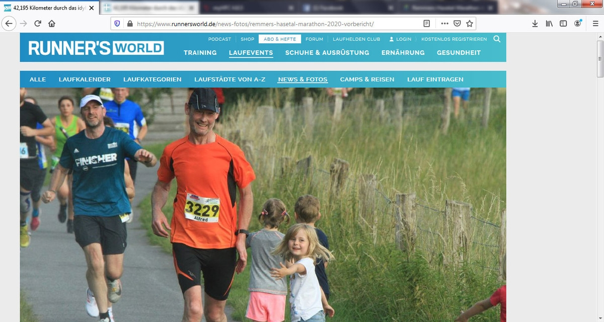 zum Bild: Auf der Website www.runnersworld.de ist jetzt ein ausführlicher Vorbericht über uns zu lesen.