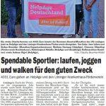 zum Bild:Bericht im Sonntagsblatt für den Landkreis Cloppenburg vom 17./18.08.2019.
