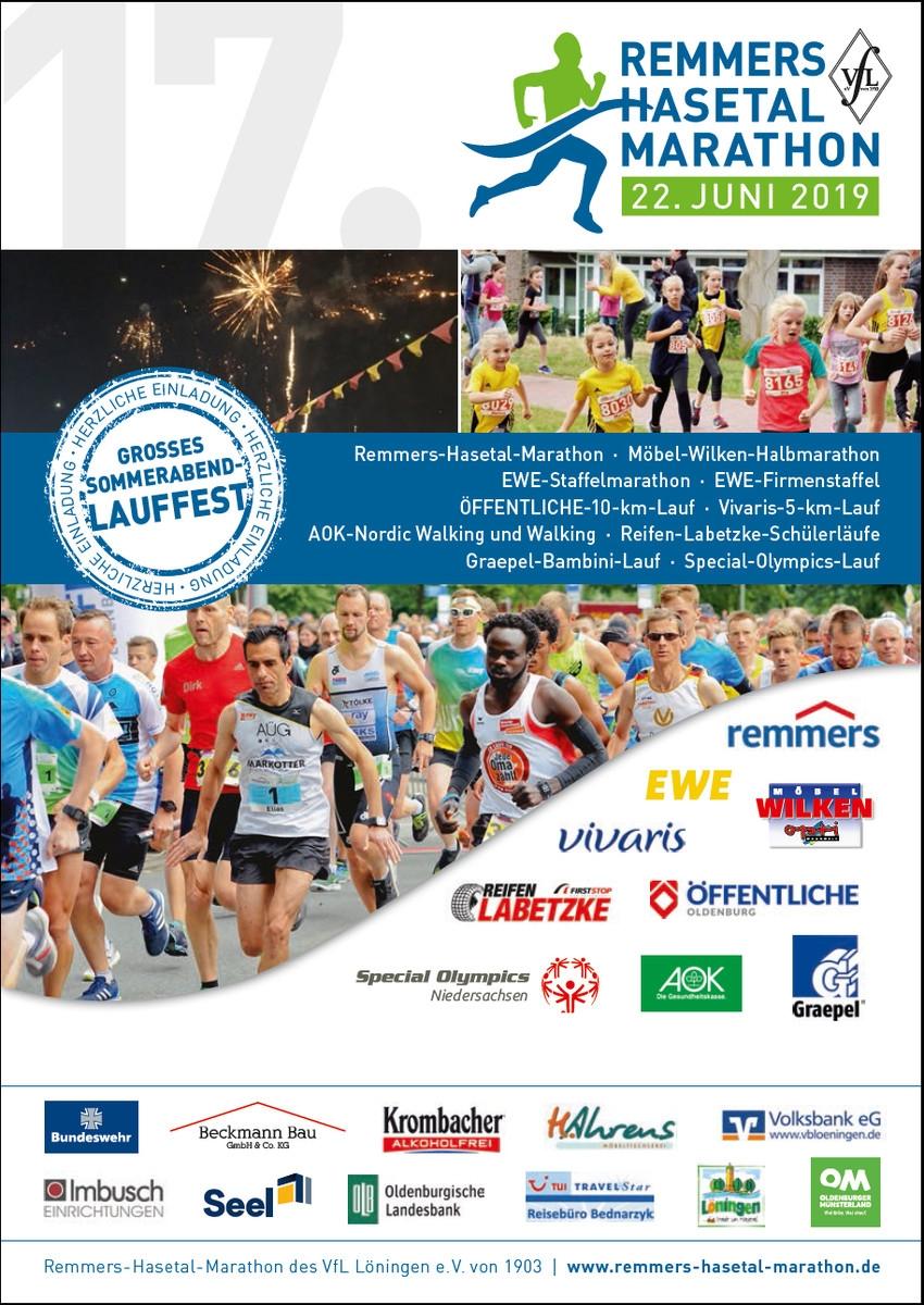 zum Bild: Titelblatt der Marathon-Broschüre 2019.