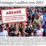 zum Bild:Bericht im Volltreffer - der Lokalzeitung vom 30.04.2020.